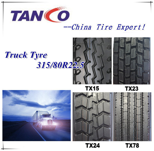 Heavy Load Capacity T61 Tubeless Truck Tire 315 80 R22.5 for Long Haul Truck