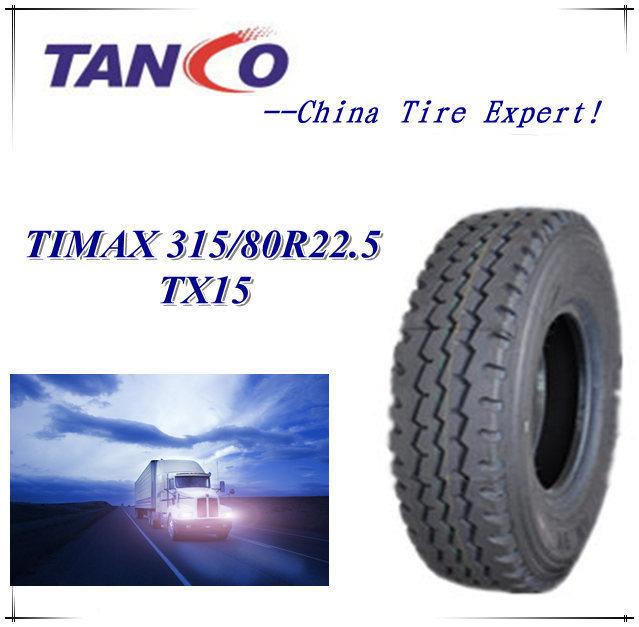 All Steel Truck Tyre, TBR Tyre for MID-East Market 315/80r22.5