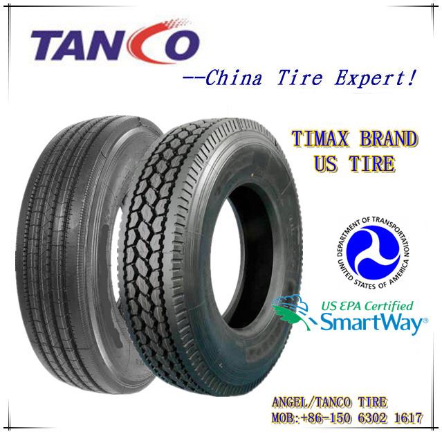 USA DOT Certified Truck Tires 11r22.5 16pr
