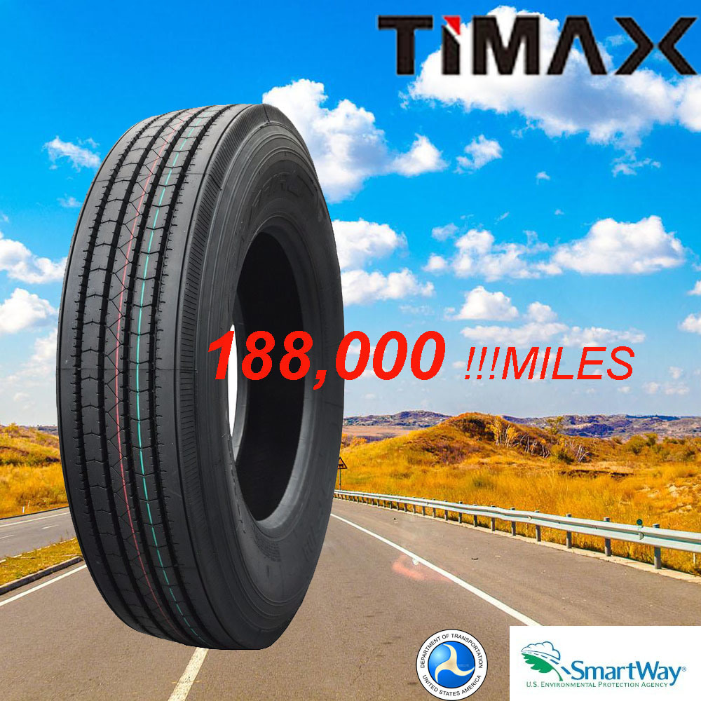 180, 000 Miles Low Profile Radial Truck Tire 11r22.5 11r24.5 295/75r22.5 285/75r22.5