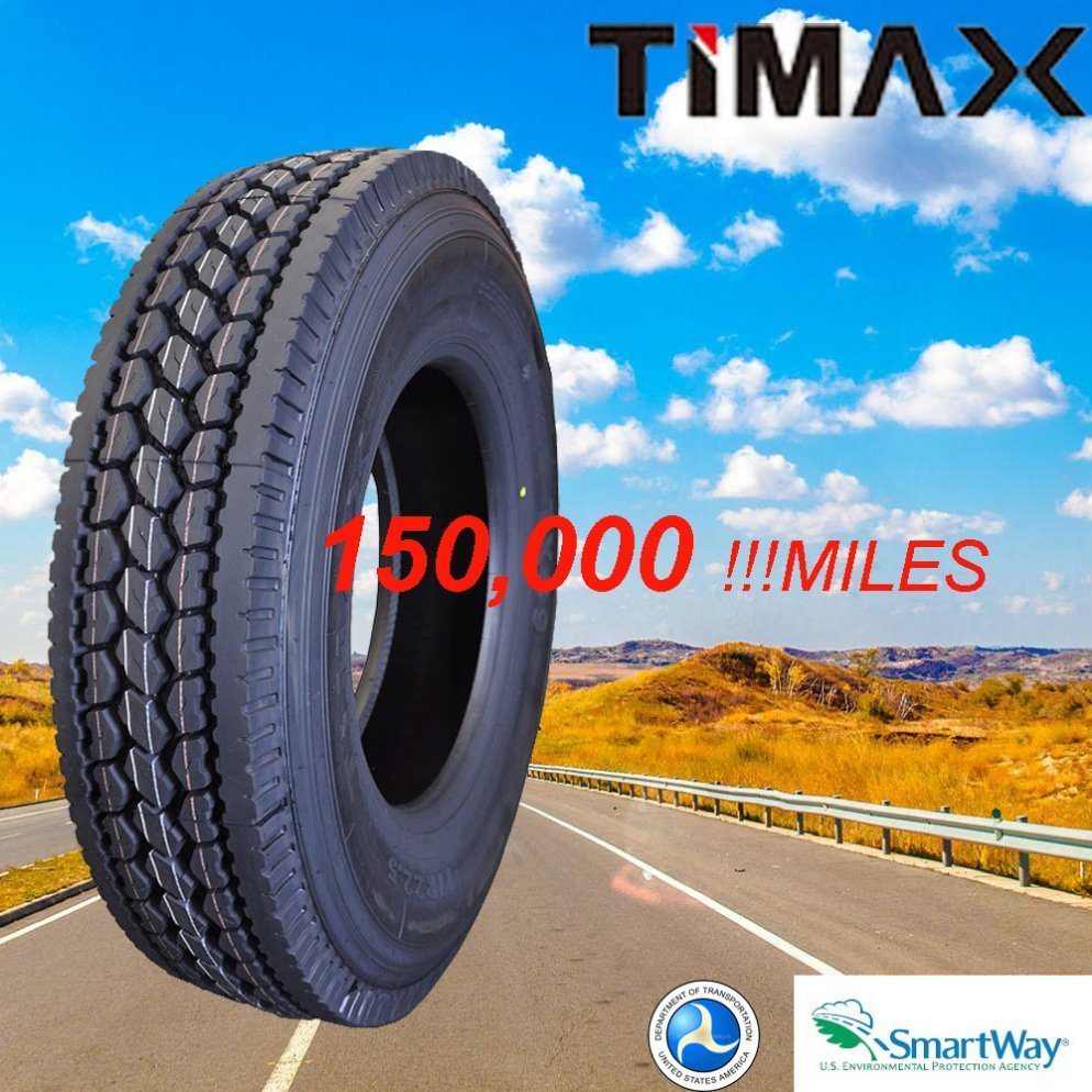 180000 Miles Reliable Quality 11r22.5 Traction and Steer Tires with DOT and Smartway