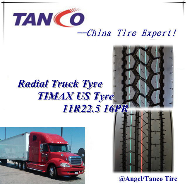 Hot Sale Chinese Truck Tyre Manufacturer 11r22.5 Truck Used Tyre for Us Market