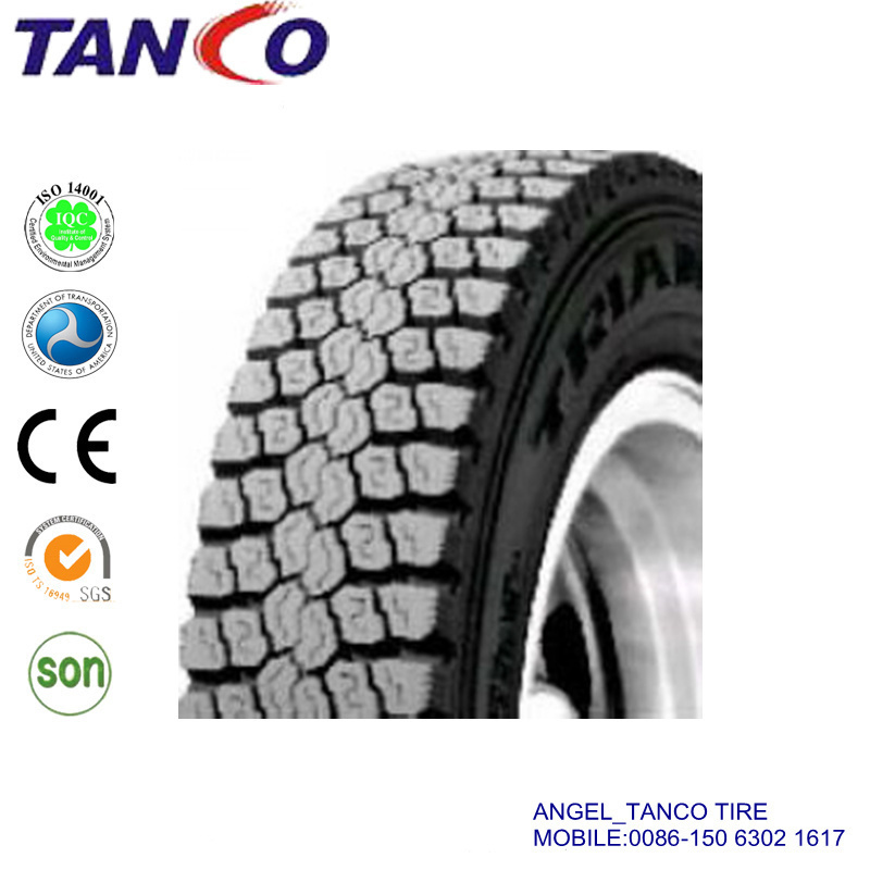 New Large Stock Pattern TBR Truck Tyres 1200r20 10.00r24 12r22.5 315/80r22.5 Drive Position Mine Tyres Heavy Duty Bus Tire Factory Direct Supply