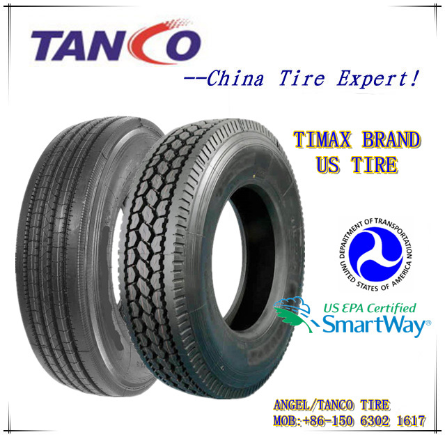 Semi Truck Tires 295/75r22.5, New Tires with DOT/Smartway (TIMAX 295 / 75 r 22.5 16pr)