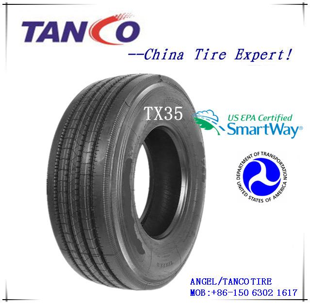 DOT/Smartway Commercial Truck Tires Semi Truck Tires Steer Tires Timax 295/75r22.5 16pr