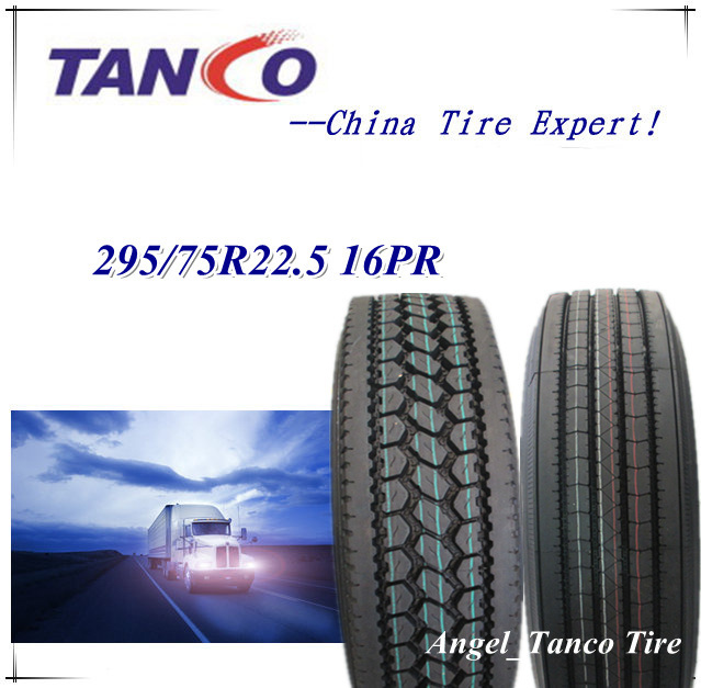 295/75r22.5 11r22.5 16ply Commercial Truck Tires, Directional/Traction/Trailer Tires with DOT